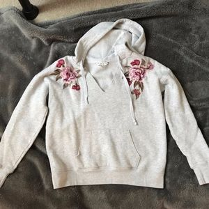 American Eagle Floral Embroidered Sweatshirt